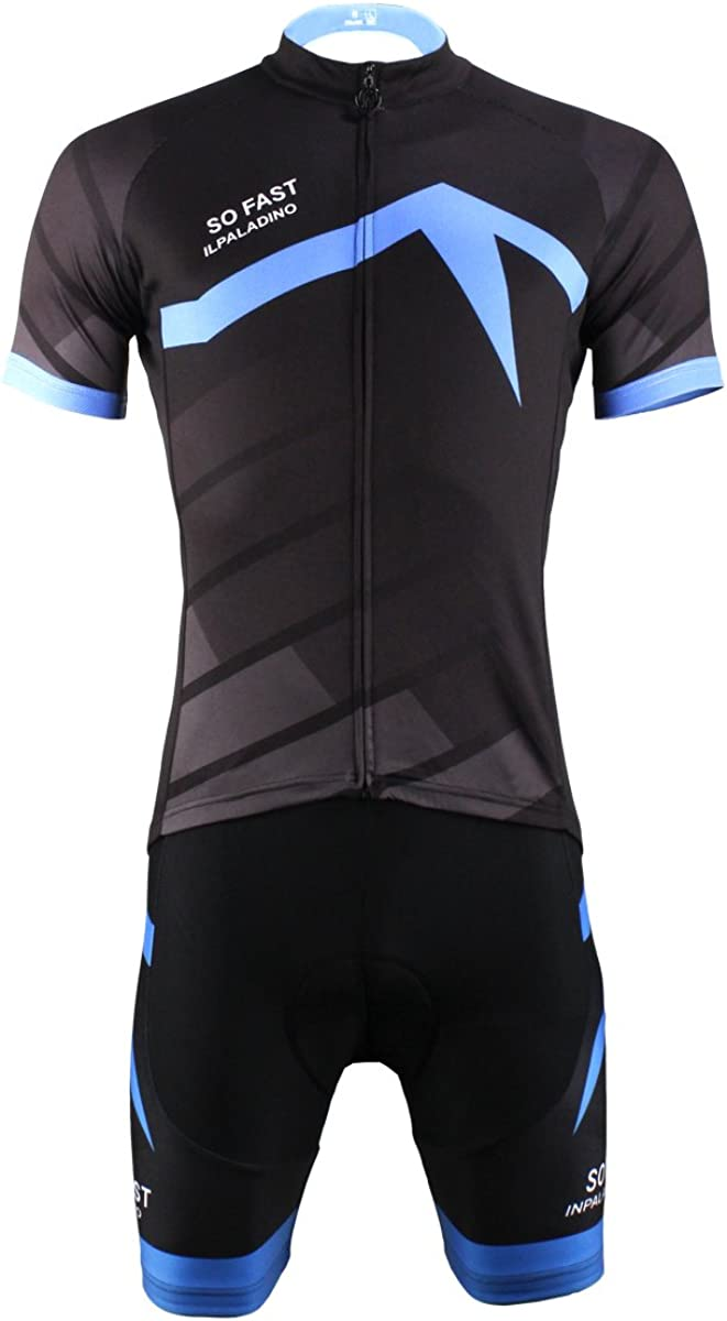 [paladin]サイクルジャージ 上下セット メンズ 夏用 自転車ウェア 吸汗速乾 通気がいい サイクリングジャージ  XL