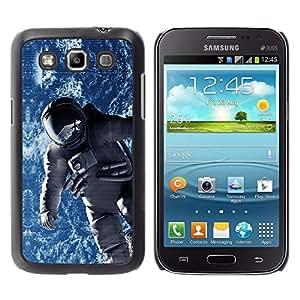 TECHCASE**Cubierta de la caja de protección la piel dura para el ** Samsung Galaxy Win I8550 I8552 Grand Quattro ** Spacesuit Cosmonaut Astronaut Orbit Earth