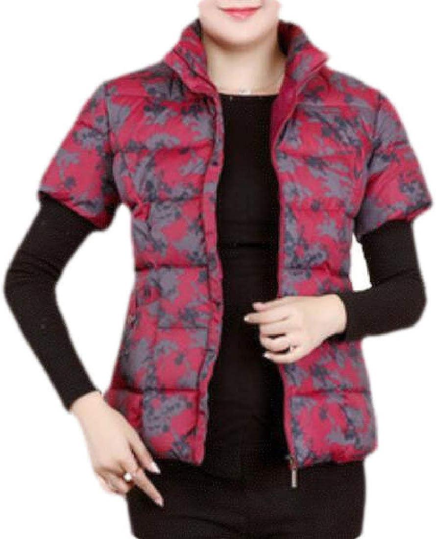 Yayu Mens Outdoor Winter Down Zipper Thick Jacket Outwear Puffer Coats with Fax Fur Hoodie