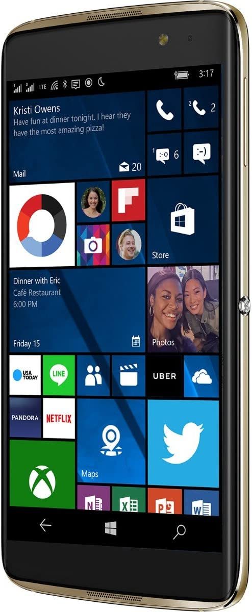 Alcatel IDOL 4S Windows 10 OS 5.5 Inch FHD GSM Unlocked 64GB 21MP Camera Smartphone with Advanced Security Fingerprint Scanner 61GTkGVrm7LSL1500_
