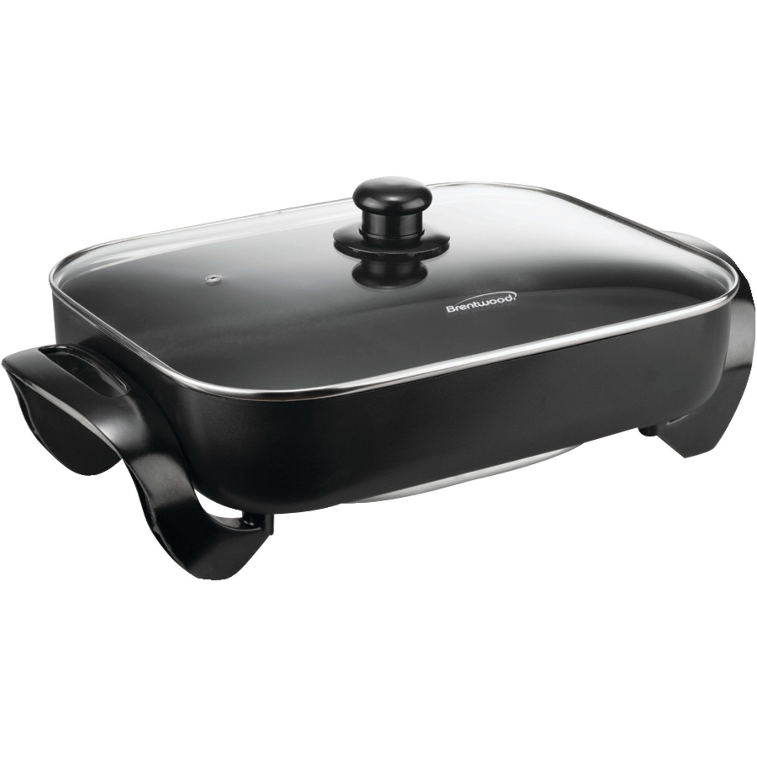 BRENTWOOD BTWSK75, Electric Skillet with Glass Lid (1,400W/16-Inch) SK-75