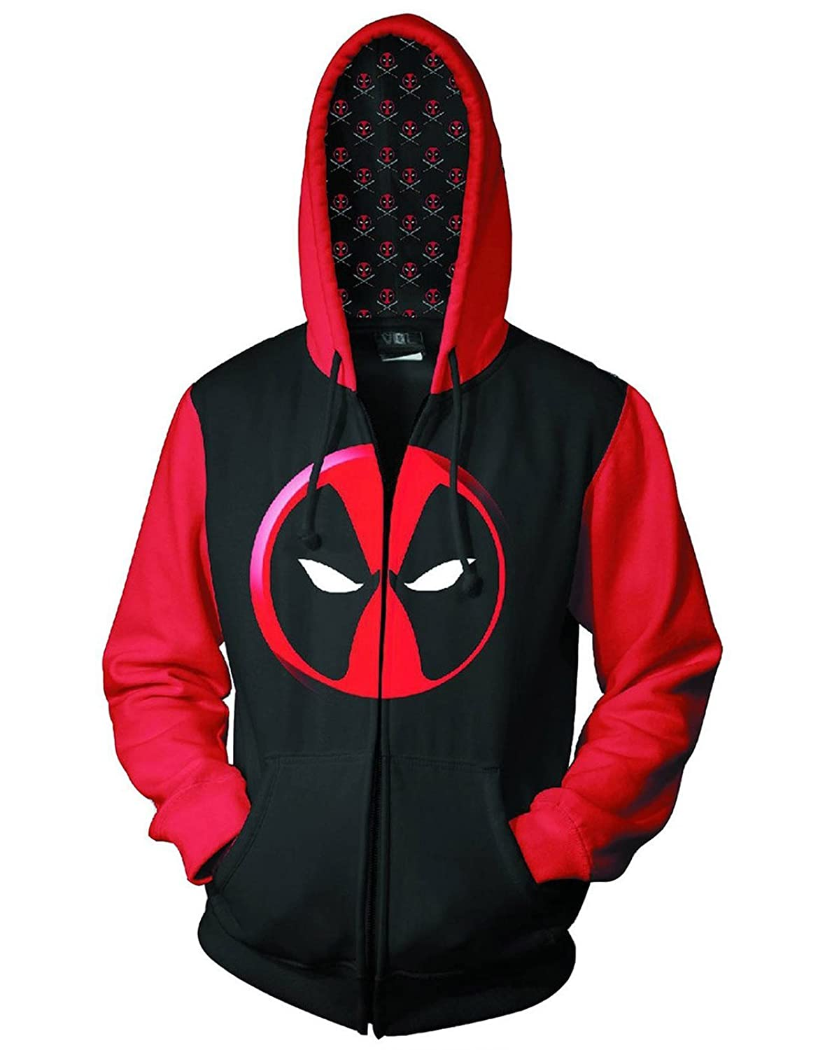 Official Deadpool Logo Previews Exclusive Men's Zip-Up Hoodie at ...