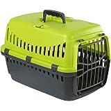 Menz PetFeed 'Travel' - Transportbox für Katze und kleine Hunde | aus Kunststoff, 32 x 48 x 32 cm, mit Vorrichtung zur Befestigung im Auto - Made in Europe