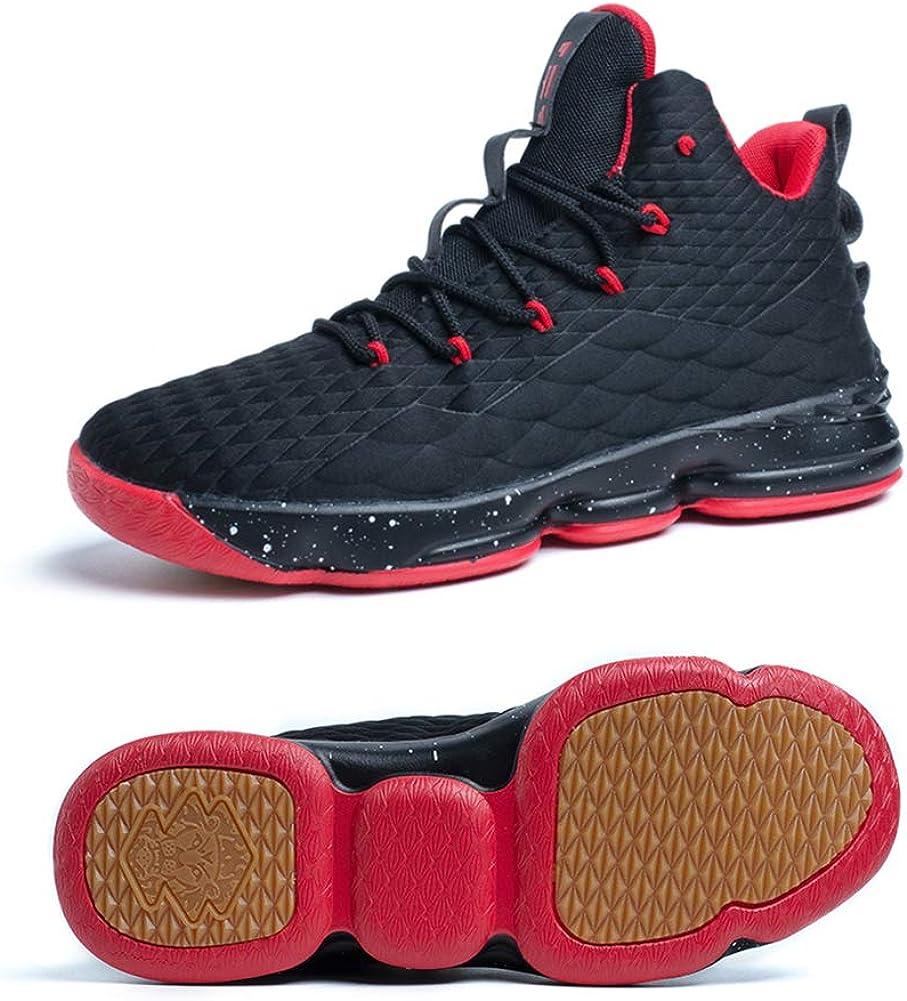 Zapatos Hombre Deporte de Baloncesto Sneakers de Malla para Correr Zapatillas Antideslizantes Negro Rojo Champán Verde Brillante 36-46