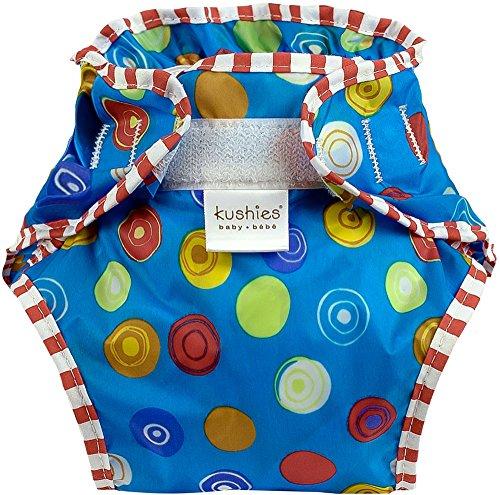 Kushies Waterproof Diaper Wrap, Blue Crazy Circles, Toddler