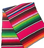 Mexitems Mexican Serape Table Runner 84''x14'' Sarape Zarape By (Magenta)