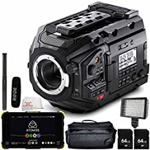 "Blackmagic Design URSA Mini Pro 4.6K Digital Cinema Camera with Rode NTG2 Battery or Phantom Powered Condenser Shotgun Microphone + Atomos Shogun Flame 7"" 4K HDMI/12-SDI Recording Monitor 6PC Accessory Kit"