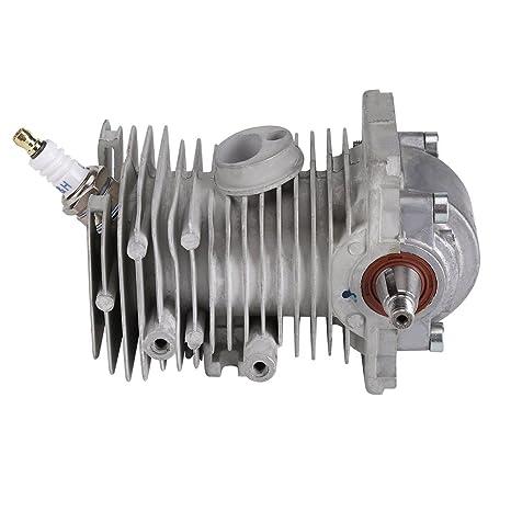 Zerodis 38mm Cilindro de pistón Cigüeñal Motor Pan Spark Plug Rebuild Assembly Se Adapta a STIHL