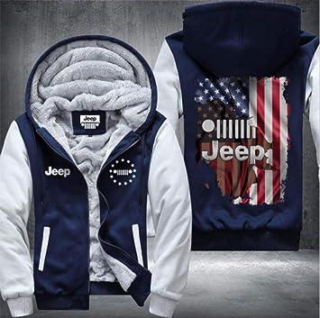 メンズパーカーフルジップベルベットJEEPは、冬に適し厚手のフード付きセーターコートフリースパーカーを、印刷します