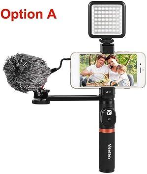 Micrófono Mini Smartphone Video Rig Dual Handheld Metal Grip con ...