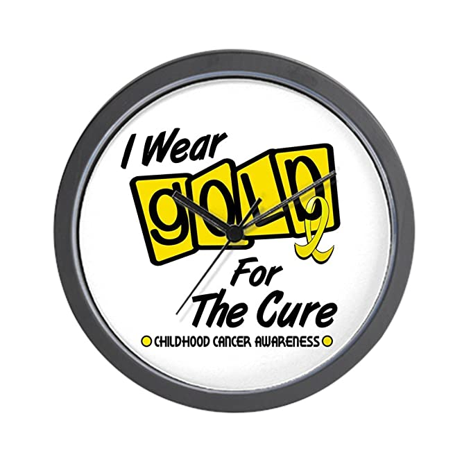 aedef6e104c Amazon.com: CafePress I Wear Gold For The Cure 8 Wall Clock: Home ...