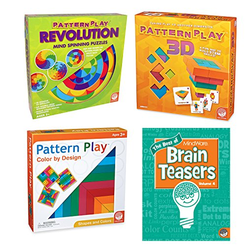 MindWare's Pattern Play: Set of 3 with BONUS Brainteaser Book ()