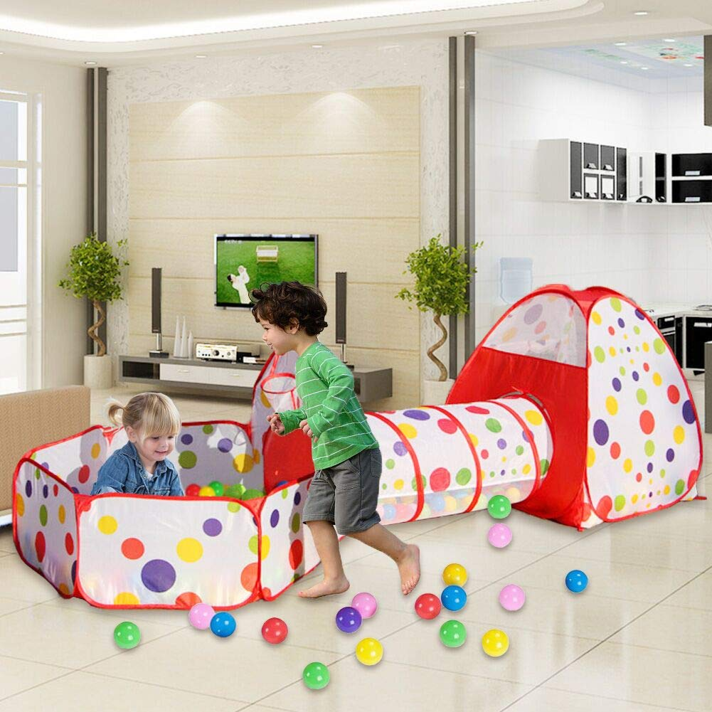 Pop Up Tenda Butterlfy Gioco Giocattolo Bambini e 100 palline per vasca palline