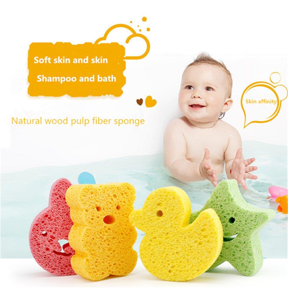 Yinew Baby Bath Sponge Cute Cartoon Body Soft Scrubber Sponges for Baby Children Scrub Wash,Bear