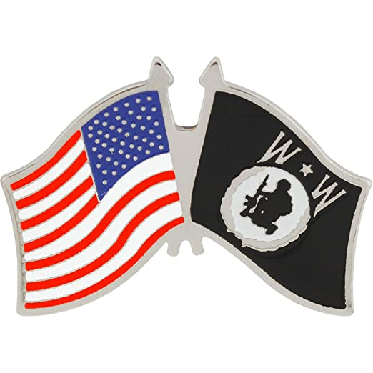 06b3801a5b4 Amazon.com  Wounded Warrior USA Flag Military Lapel Pin 1-1 4 Inches ...