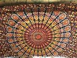 AMERCRAFTBAZAAR Indian Twin Single Bed Size Tapestry Light Blue Grey Floral print Kantha Quilt, Kantha Blanket, Bed Cover, Bedspread, Bohemian Bedding 6090''