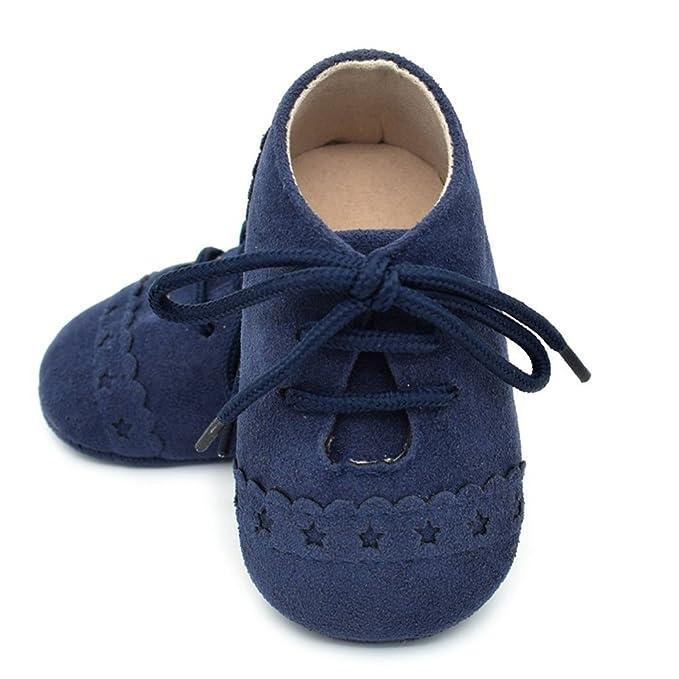 YanHoo Zapatos para niños Zapatos de bebé con Cordones Zapatos Laterales voladores Zapatos para niños pequeños Zapatilla Antideslizante Suela Suave Zapatos ...