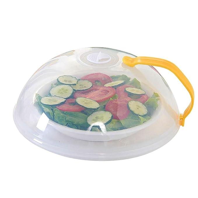 upxiang plástico con ventilación y microondas Hover anti-sputtering Cover, alimentos placa plato cubierta, microondas tapa multifunción tapa ...