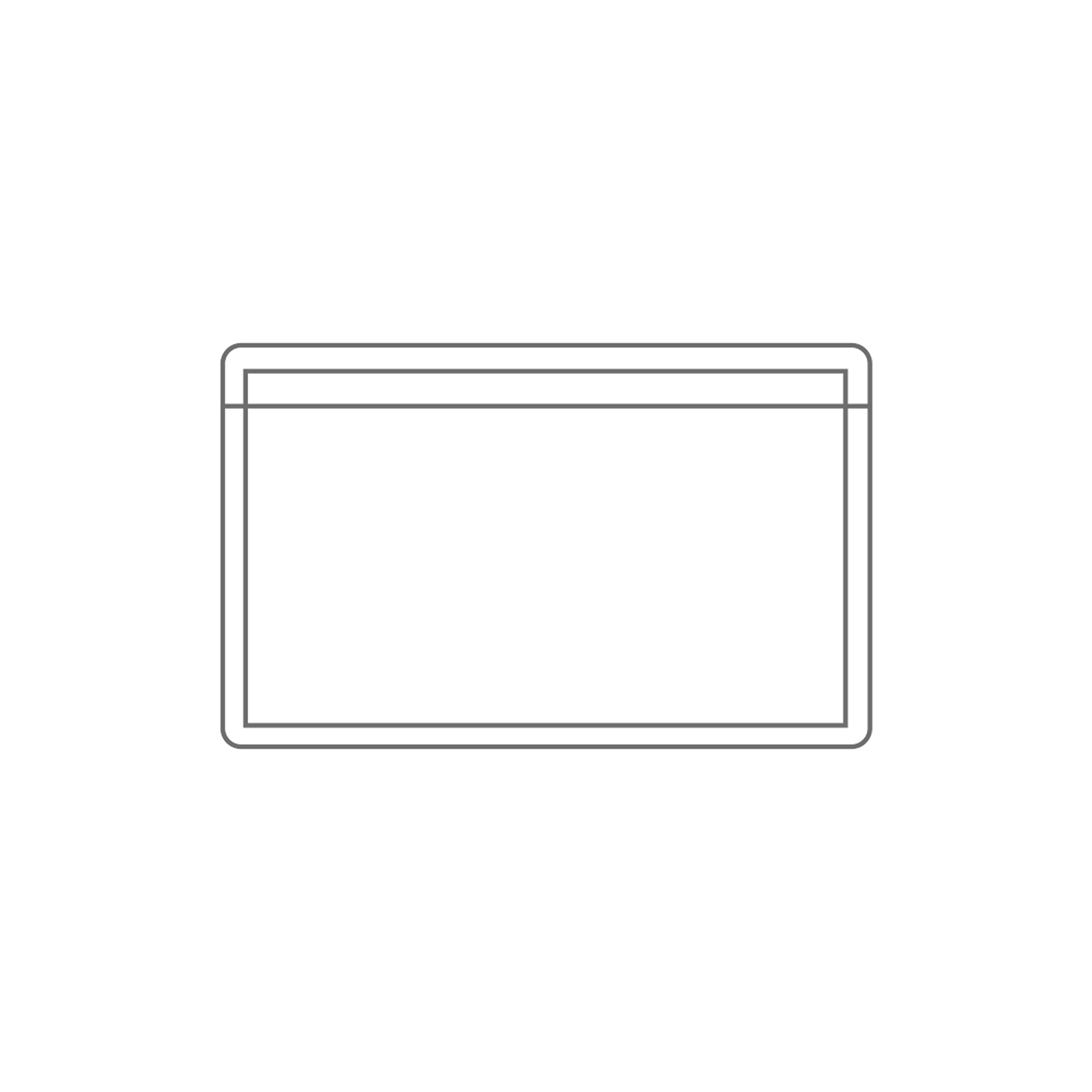 PackZen Clear Top Loading Adhesive Business Card Sleeve/Pocket (Long Side Open) - Pack of 100 - Made in The USA
