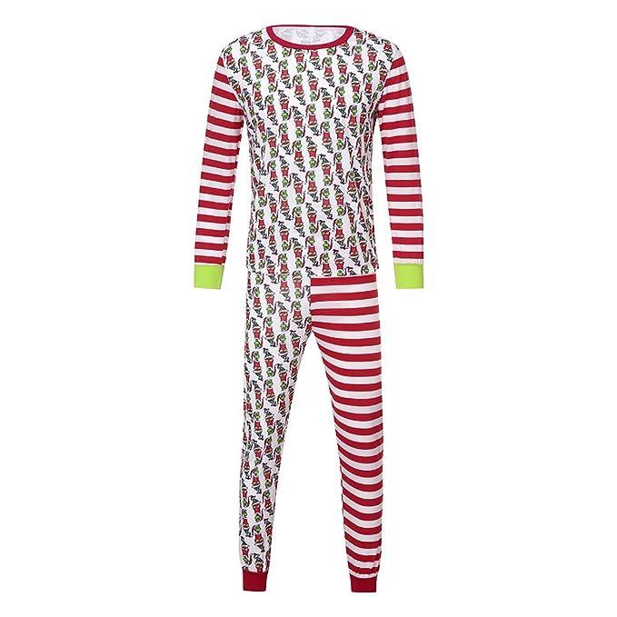 f095981eca Amazon.com  Lovewe Christmas Family Matching Xmas Pajamas Set
