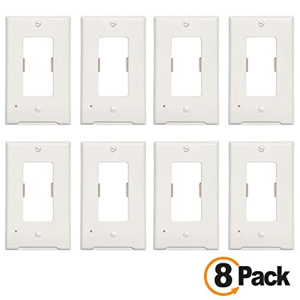 8Pack Guidelight Outlet Wall Plate With 3 LED Night Lights,Snap Power  Outlet Lights-Smart Light Sensor-Easy Installation-No Batteries Or  Wire-Install