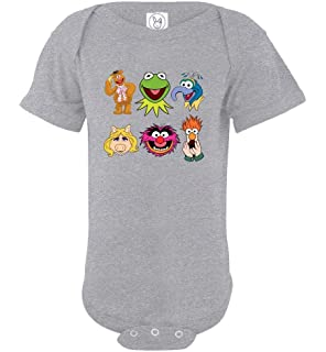 c46bd4af4 The Muppets Animals Face Bodysuit Baby Boys Girls Grow NB 6 12 18 24 Month  Onesies