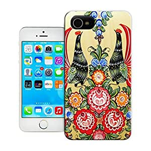 Unique Phone Case A floral pattern with two cocks Hard Cover for 4.7 inches iPhone 6 cases-buythecase