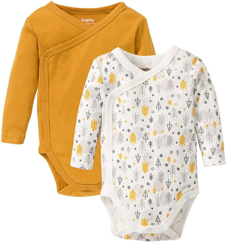 Baby Langarm-Body 3er Pack Weiss//grau Gr/össe 86 100/% Baumwolle Druckkn/öpfe