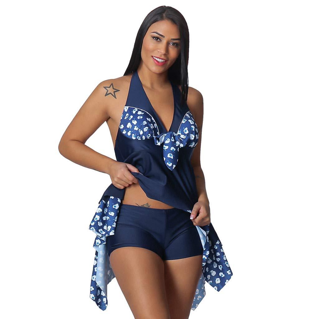 Women Plus Size Floral Tankini Swimjupmsuit Swimsuit Beachwear Padded Swimwear