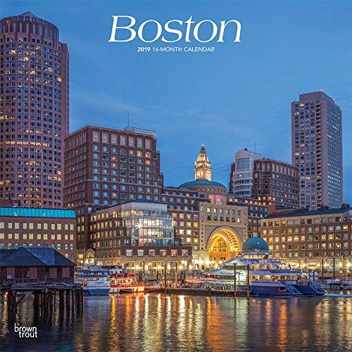 Boston 2019 12 x 12 Inch Monthly Square Wall Calendar, USA United States of America Massachusetts Northeast - Boston Wall Usa