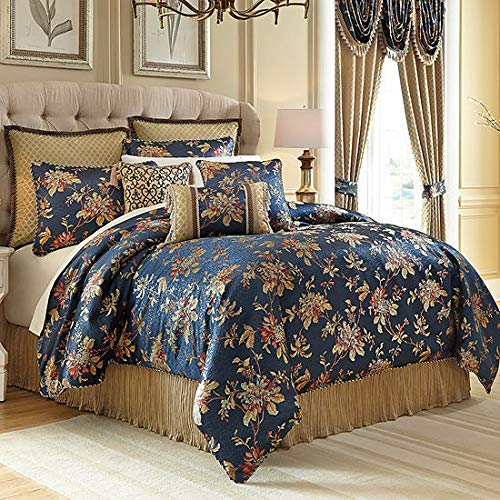 - Croscill Calice 4-Pc. California King Comforter Set in Blue Floral