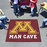 "NCAA University of Minnesota Man Cave Tailgater Rug, 60"" x 72""/Small, Black"