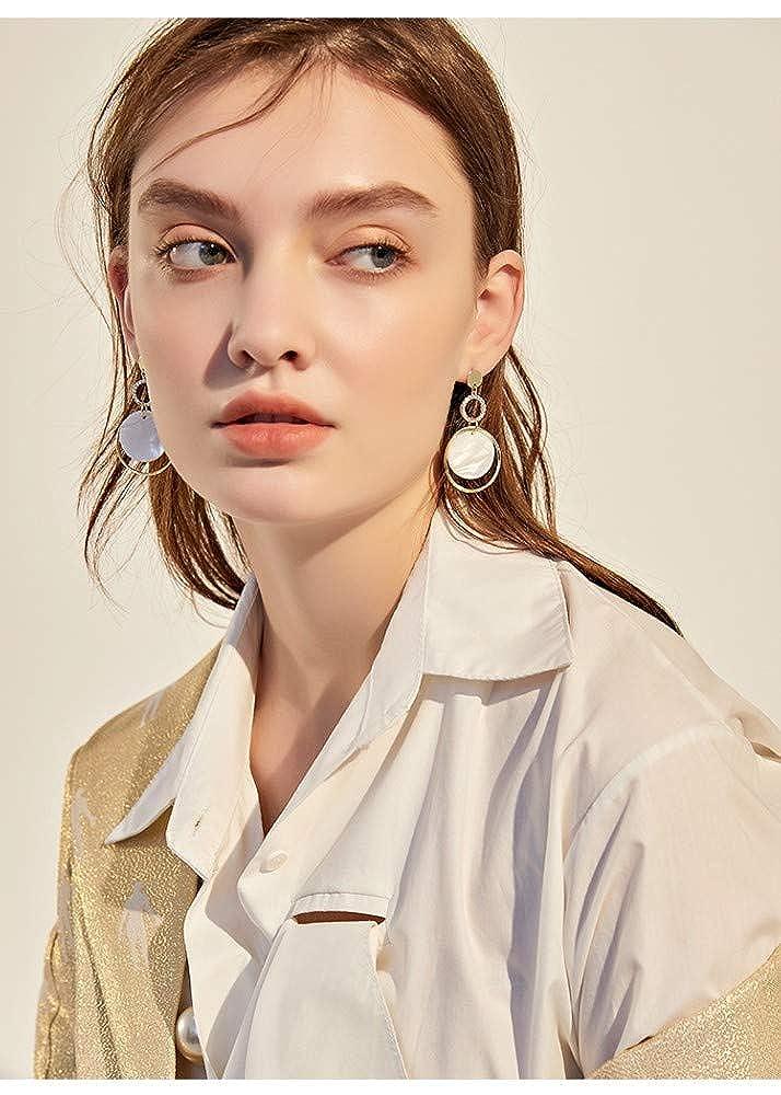 LSDAMW Earrings For Women Drop Dangle Girls Simple Circle Long Retro Earrings Atmosphere High-End Ladies Jewelry Earrings Light And Beautiful Jewelry
