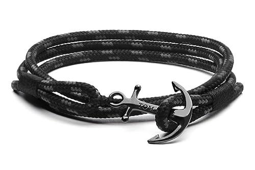 vendita calda online fa193 4615b BRACCIALE TRIPLE BLACK ANCORA TOM HOPE - M - TM0132