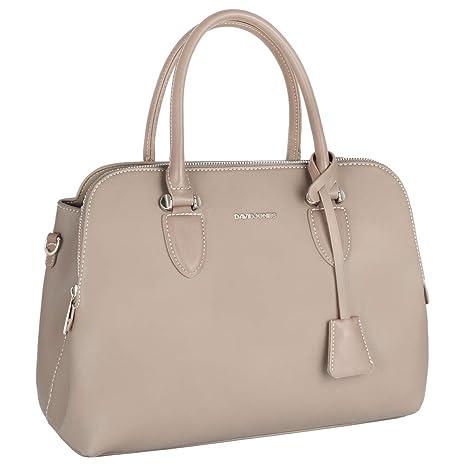 David Jones - Bolso de Mano Bugatti Mujer - Señora Tote Bag Cuero Genuino PU  - 4788f49d03e