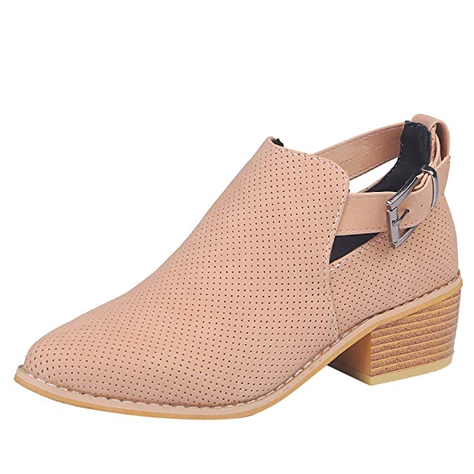 ca26fd7e116d1 Amazon.com: Cenglings Women Chelsea Boots, Pointed Toe Shoes Hollow ...