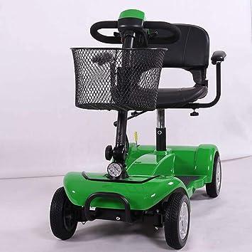 GJX Silla de Ruedas eléctrica, Silla de Ruedas Plegable Ligera con Inodoro, Patinete de Ancianos discapacitados: Amazon.es: Deportes y aire libre
