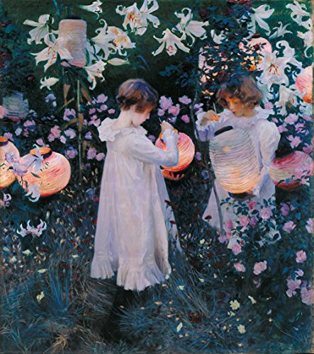 John Singer Sargent - Carnation, Lily, Lily, Rose, Size 24x28 inch, Gallery Wrapped Canvas Art Print Wall décor