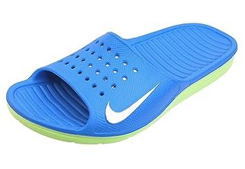 94e99980924e6 Nike Herren Badeschuhe SOLARSOFT SLIDE Badelatschen blau   grün ...