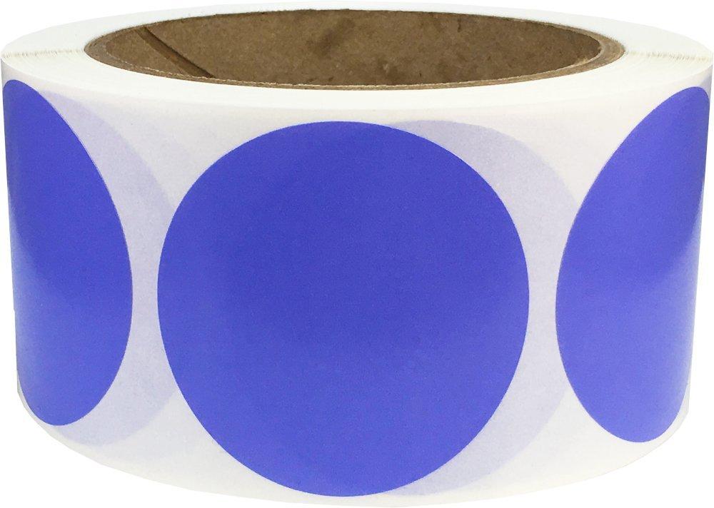 Jaune Cercle Point Autocollants, 51 mm 2 Pouces Ronde, 500 Étiquettes sur un Rouleau InStockLabels.com
