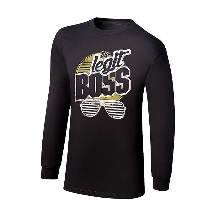 WWE - Camiseta de Tirantes - para Hombre Negro Negro XL