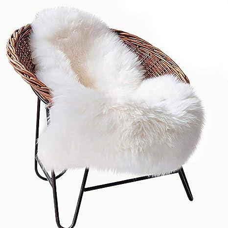 Fluffy Chair Cover Seat Cushion Pad Faux Fleece Fur Area Rug Carpet Home Decor