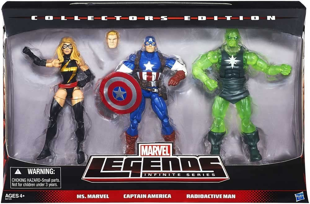 Marvel Legends Infinite Collectors Edition Ms. Marvel. Captain ...
