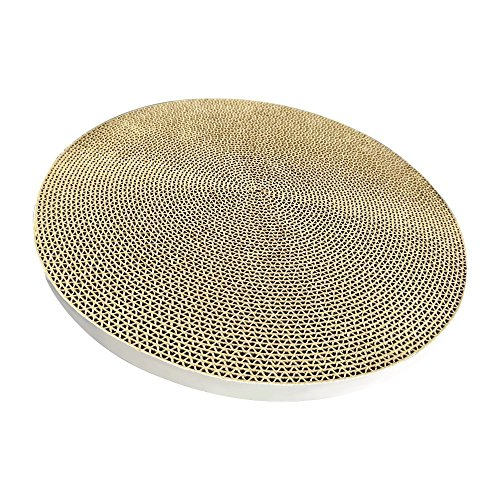 PETKIT Cat Scratcher Pad, Durable Scratching Pad Refill Replaceable Cardboard, Round Cat Scratch Board, Single Pad(33x3.3 Centimeter)