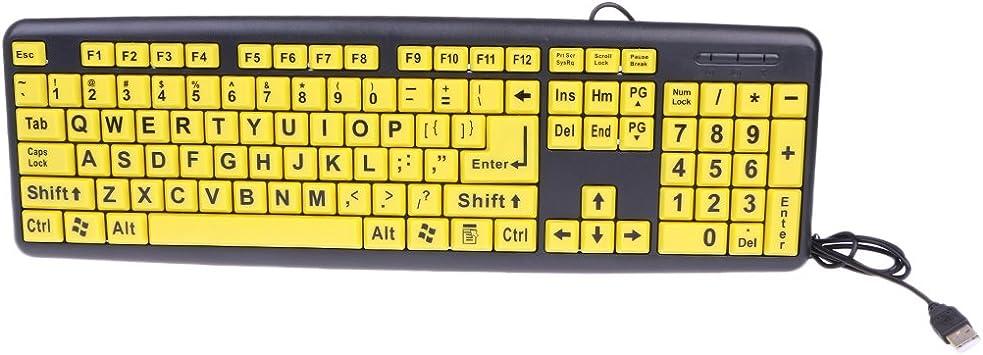 sunhoyu Keyboard, letra grandes negras de impresión de ...