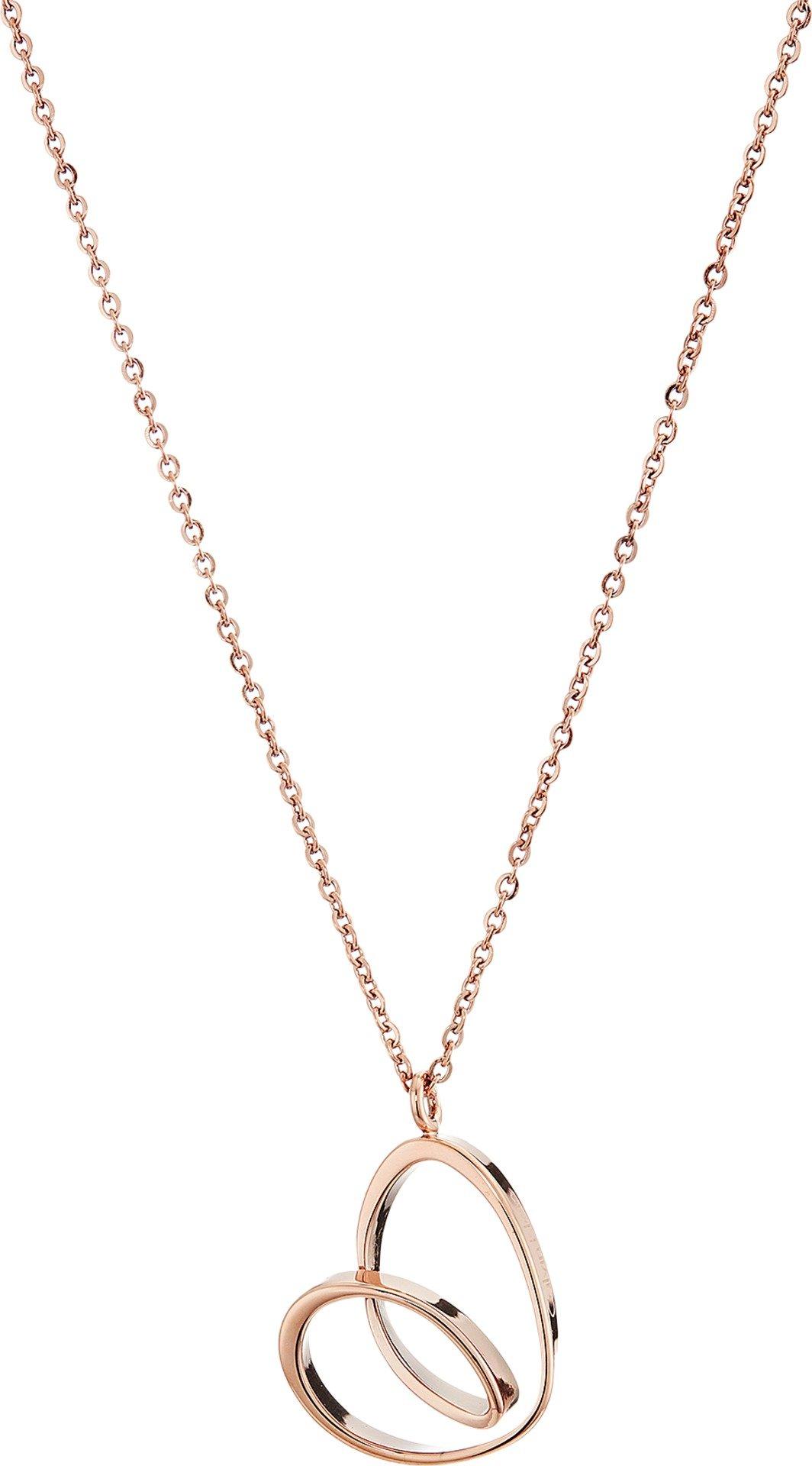 Calvin Klein Women's Warm Short Necklace Rose Gold One Size