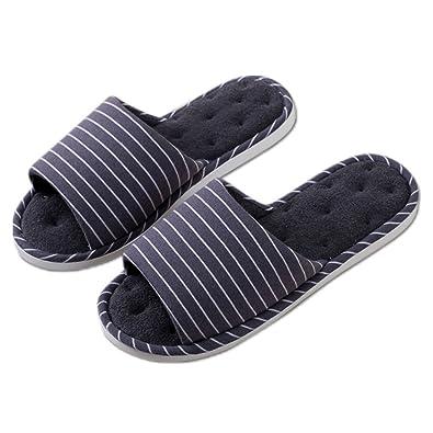DWW-Hausschuhe Hausschuhe Indoor-Baumwolle Hanf Anti-Rutsch-dicke Leinen weiche und bequeme Schuhe ( Farbe : A , größe : EUR:39-40 )