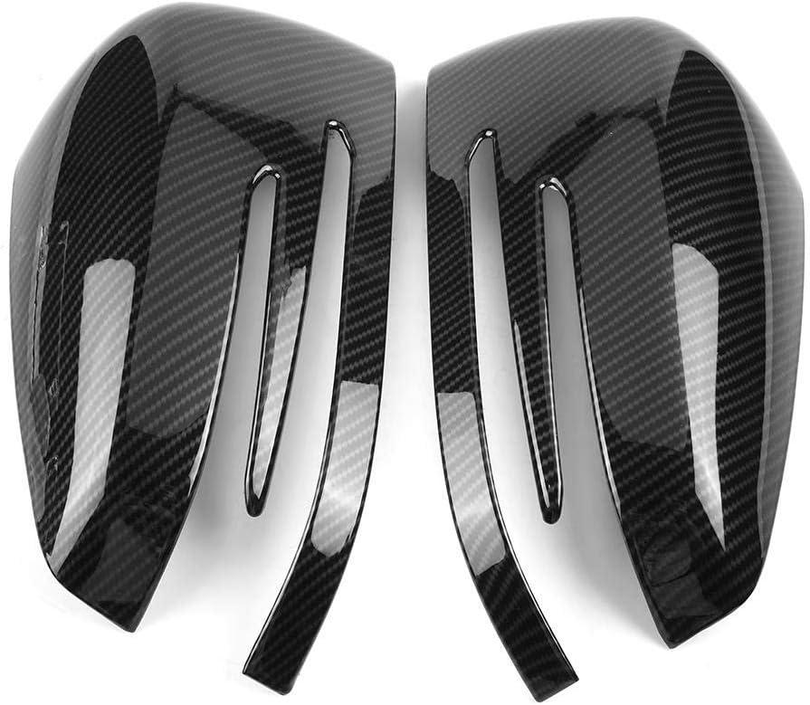 Rearview Mirror Cover 1 Pair Carbon Fiber Car Rear View Side Door Mirror Cap Trim for Mercedes Benz A B C E GLA Class W204 W212