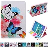 Galaxy Tab S2 8.0 Case,UUcovers PU Leather Wallet Case [Card Slots] Kickstand Feature Case for Samsung Galaxy Tab S2 8.0 T710/T715 (Colorful Butterfly)