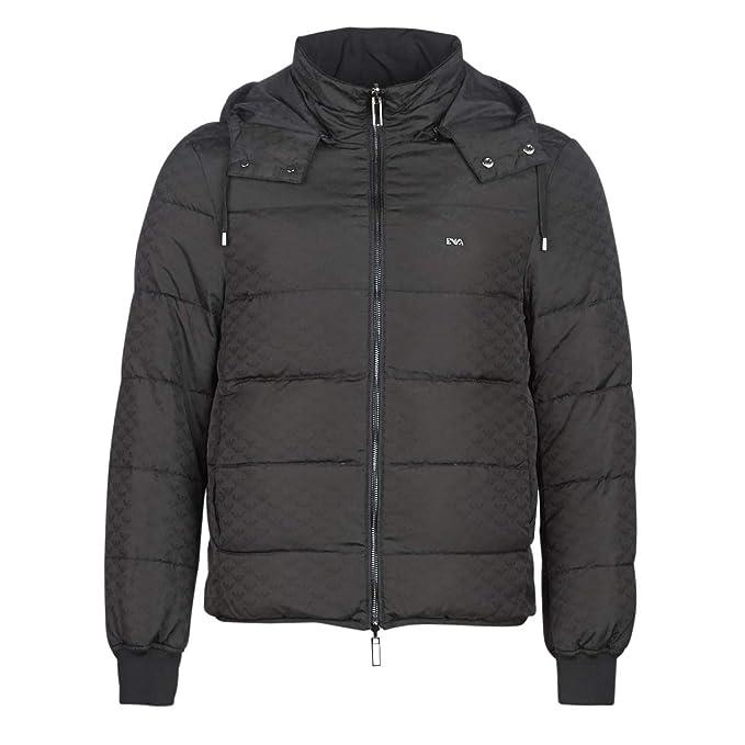 Emporio Armani cazadoras chaqueta de hombre plumíferos chapucha nuevo negro: Amazon.es: Ropa y accesorios